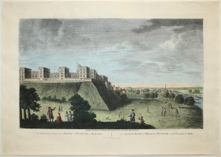 The Royal Castle and Palace of Windsor in Berkshire (um 1800) - [Art. K017] – 01