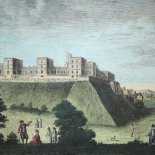 The Royal Castle and Palace of Windsor in Berkshire (um 1800) - [Art. K017]