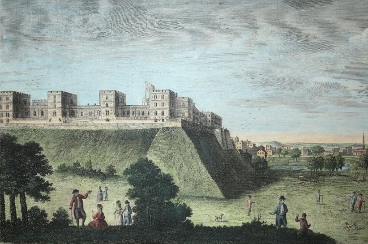 The Royal Castle and Palace of Windsor in Berkshire (um 1800) - [Art. K017] – 03